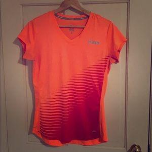 Nike Bright Orange Dri-Fit Running Shirt